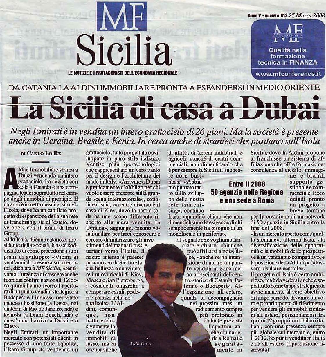 Aldo Isaia: La Sicilia è di casa a Dubai