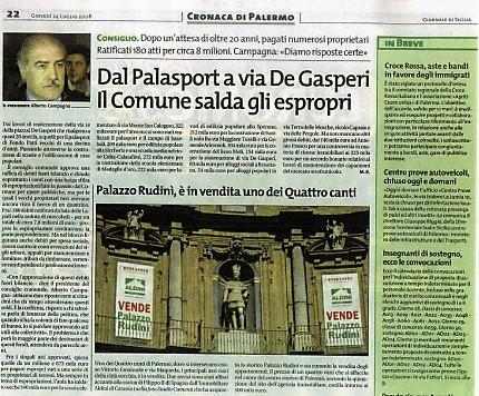 Aldo Isaia: palazzo Rudinì, è in vendita uno dei Quattro Canti